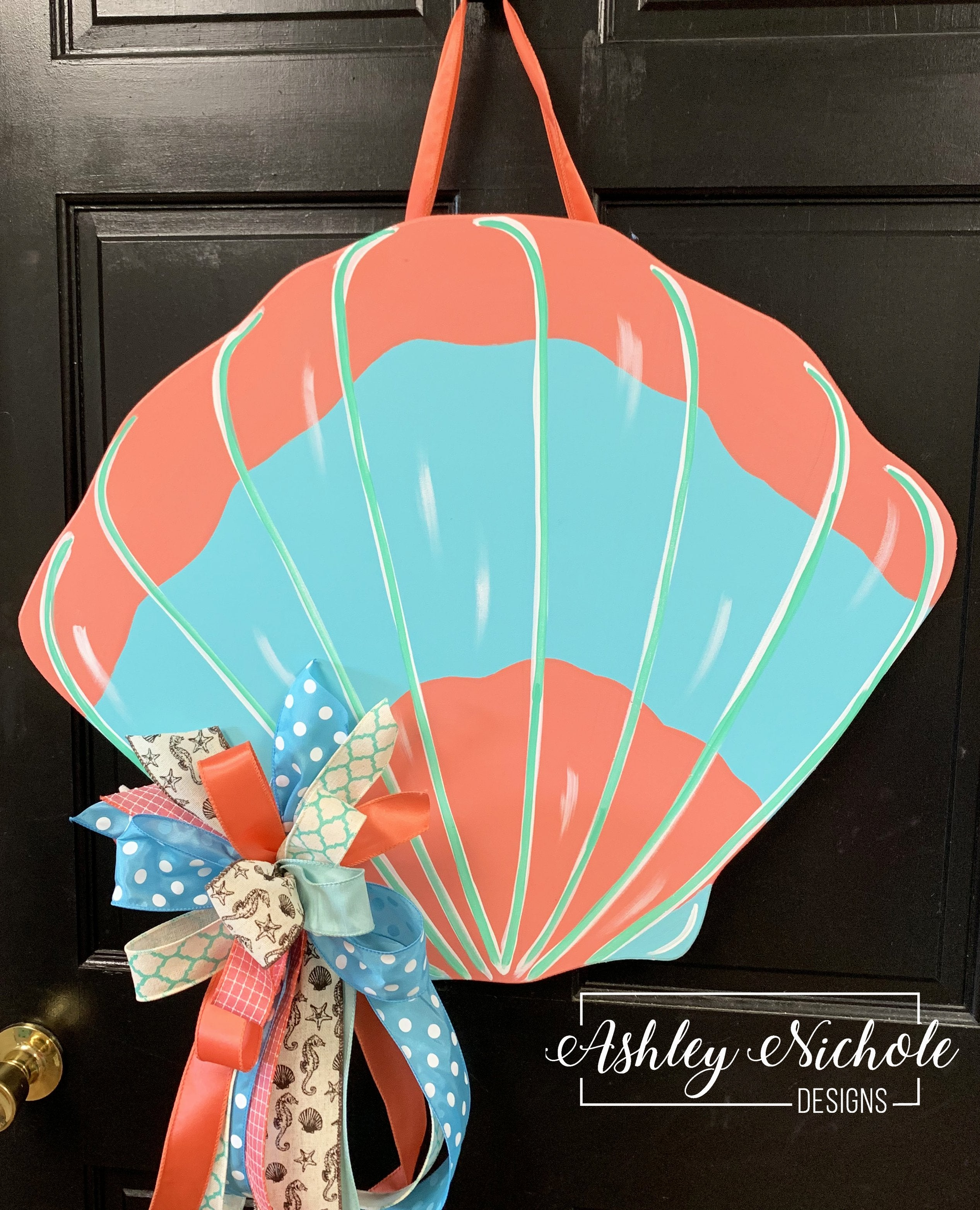 Seashell Colorful Door Hanger