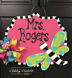 Dragonfly Name Plaque Door Hanger