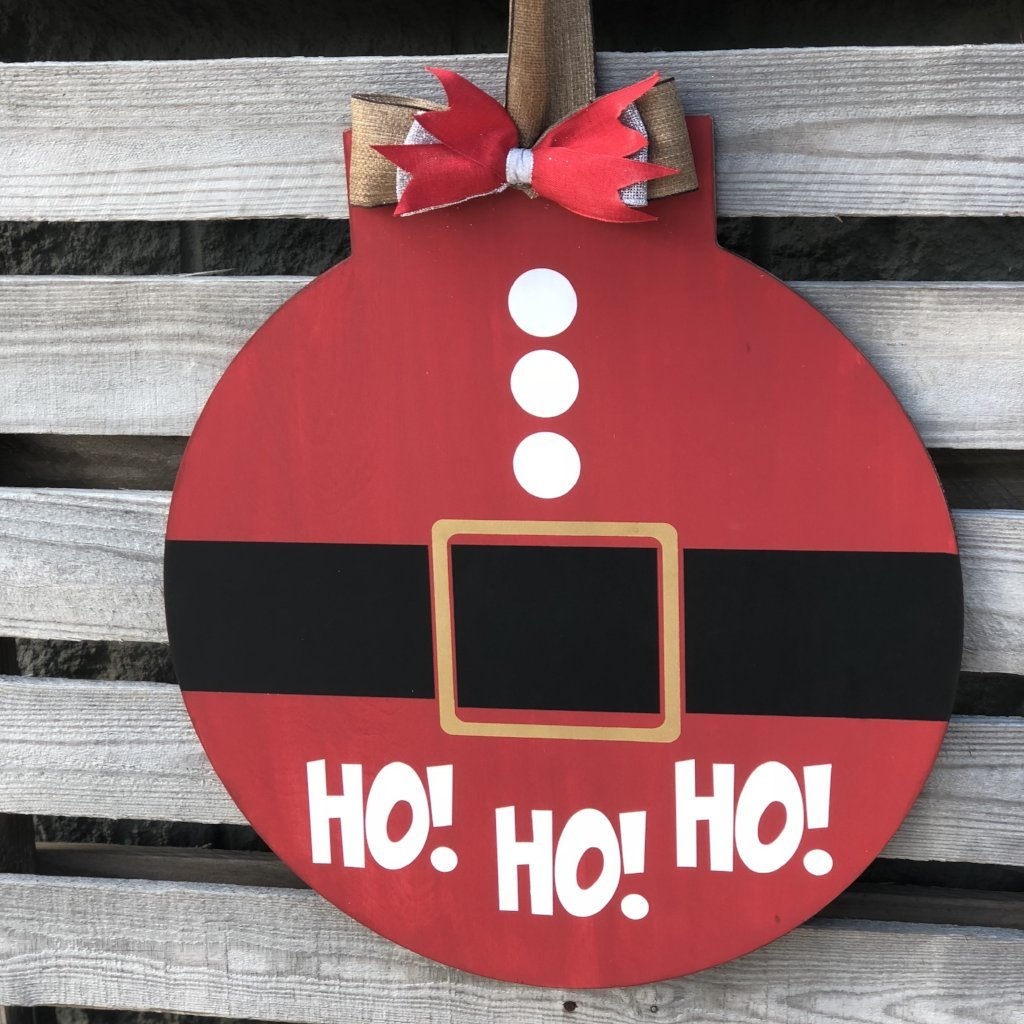 HO HO HO FLAT TOP CIRCLE: DOOR HANGER DESIGN
