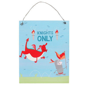 KNIGHT ADVENTURE METAL SIGN