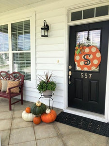 * Pumpkin-Polka Dot-Door Hanger