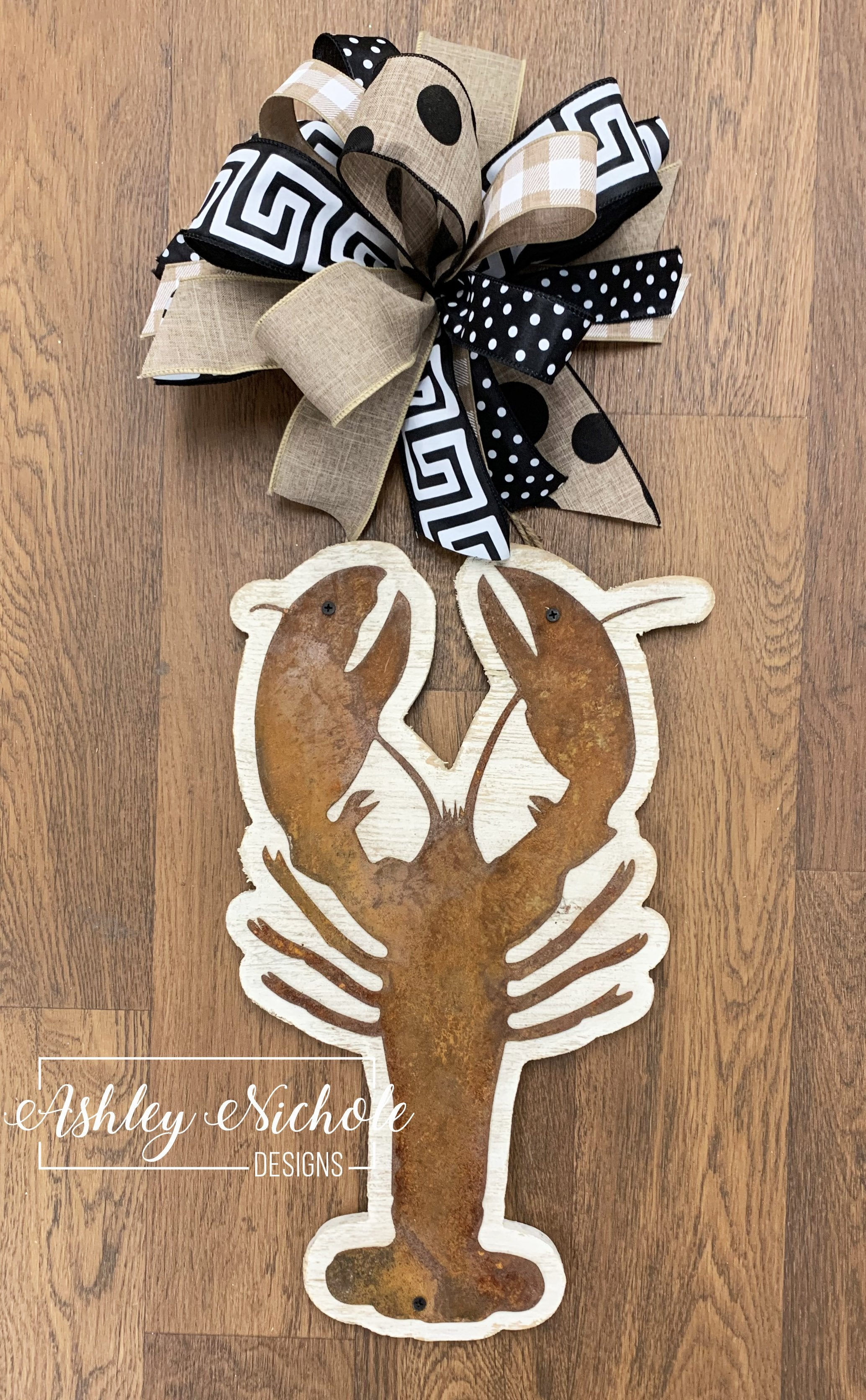 Rustic Crawfish Door Hanger