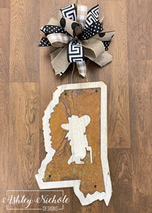 Rustic Mississippi Rebel Door Hanger