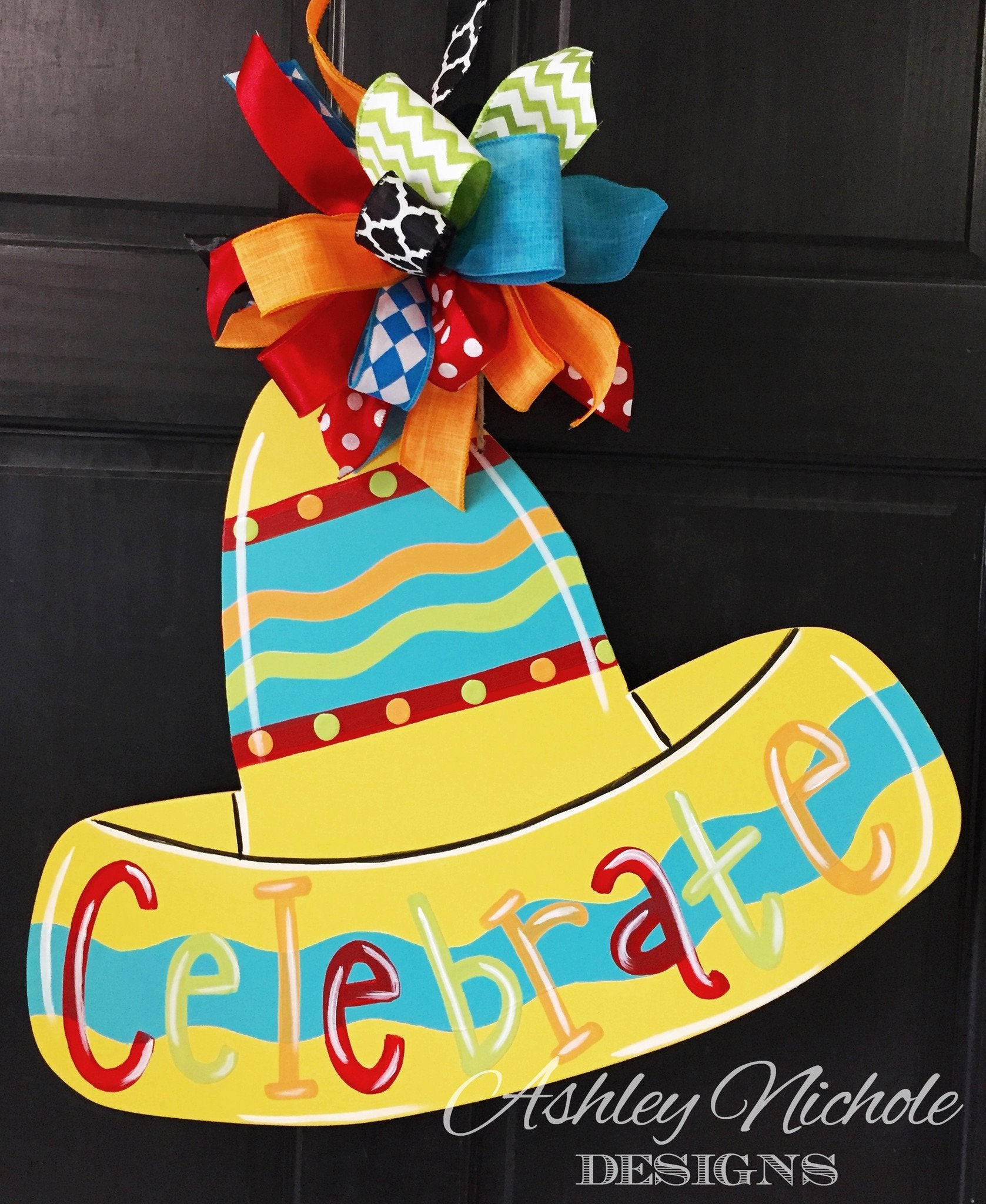 Celebrate Sombrero Door Hanger