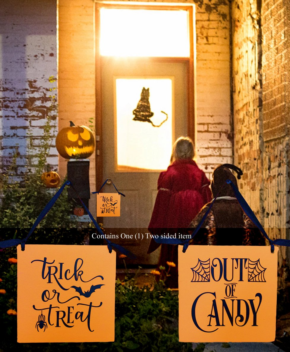Halloween Trick or Treat/Out of Candy Door Hanger
