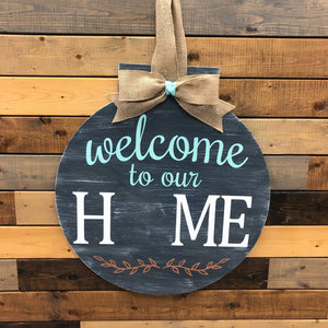 Welcome to our Home Round Door Hanger: INTERCHANGEABLE DESIGN