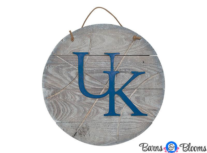Kentucky Basketball Reclaimed Wood Door Hanger