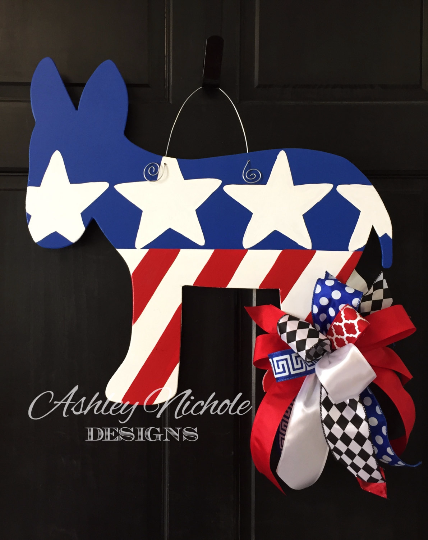 Democrat Donkey Door Hanger