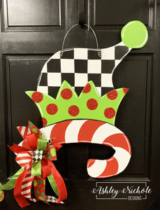 Elf Hat Door Hanger