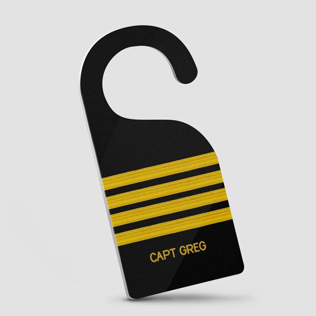 Black Pilot Stripes - Door Hanger