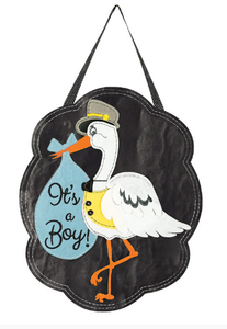 It's a Boy door hanger