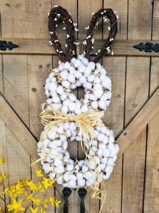 Limited Supply Cotton Easter Bunny Door Hanger