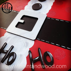 Christmas Santa Belly Door Hanger - Unfinished