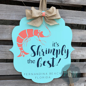 It's Shrimply the Best: Flourish Bracket Door Hanger