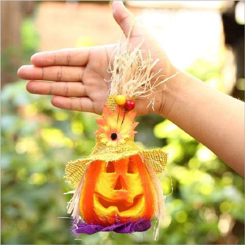 LED Pumpkin Lantern Hanger Light