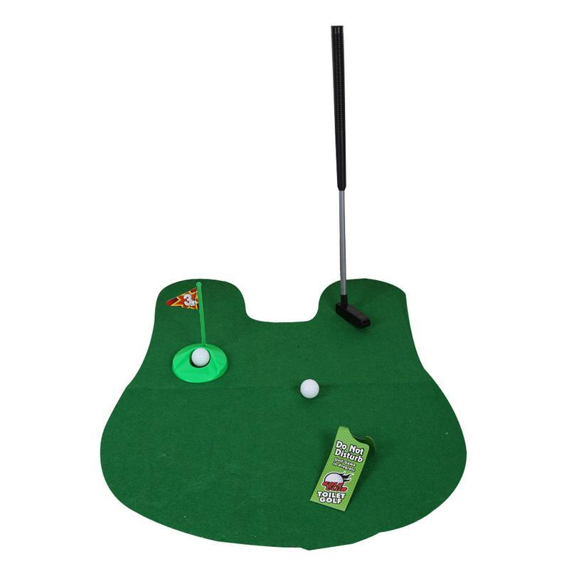 Potty Putter Toilet Mini Golf Game Set Golf Training Accessories on SALE
