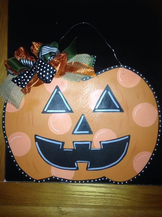 TUESDAY SEPTEMBER 24 PUMPKIN FRONT DOOR HANGER Class