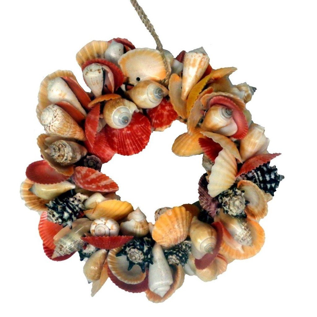 Colorful Mixed Real Shell Wreath