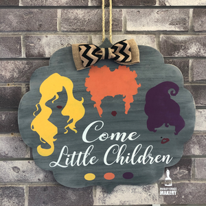 Come Little Children (Hocus Pocus): DOOR HANGER DESIGN