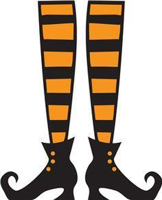 TUESDAY SEPTEMBER 17  WITCH LEGS FRONT DOOR HANGER Class