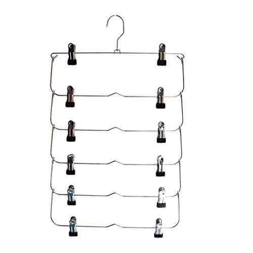 Clothes Hangers, Stainless Steel Hangers Ultra Thin Space Saving Non-Slip Hangers Suit Hangers Velvet Hangers Coat Hanger Ideal for Everyday Standard Use, Clothing Hangers