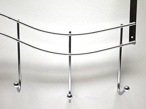 Tilesey Over Door Hook Rack, Hooks, Stainless Steel Over The Door Hook Rack,