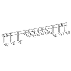 InterDesign Classico Wall Mount Closet Organizer Rack for Ties, Belts - Chrome