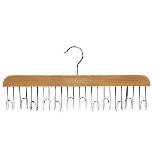 Shopline Belt Hanger with 12 Hooks, Great Organizational Tool Closet Accessories Organizer for Belts, Scarfs, Ties, Necklaces