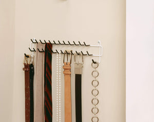 ClosetMaid 8051 Tie and Belt Rack, White