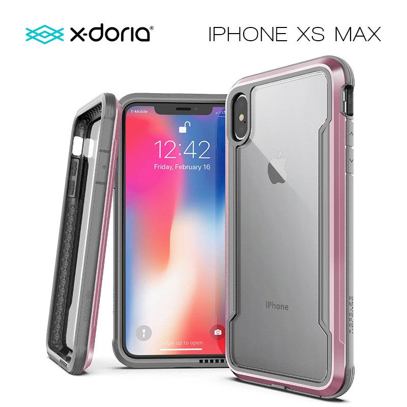 X-Doria Defense Shield for iPhone Xs Max (Rose Gold)