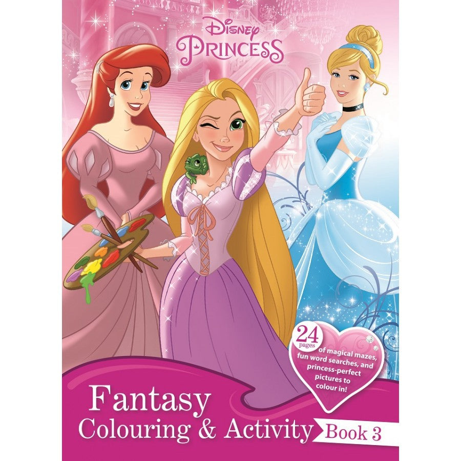 Disney Princess Fantasy Colouring & Activity Book 3