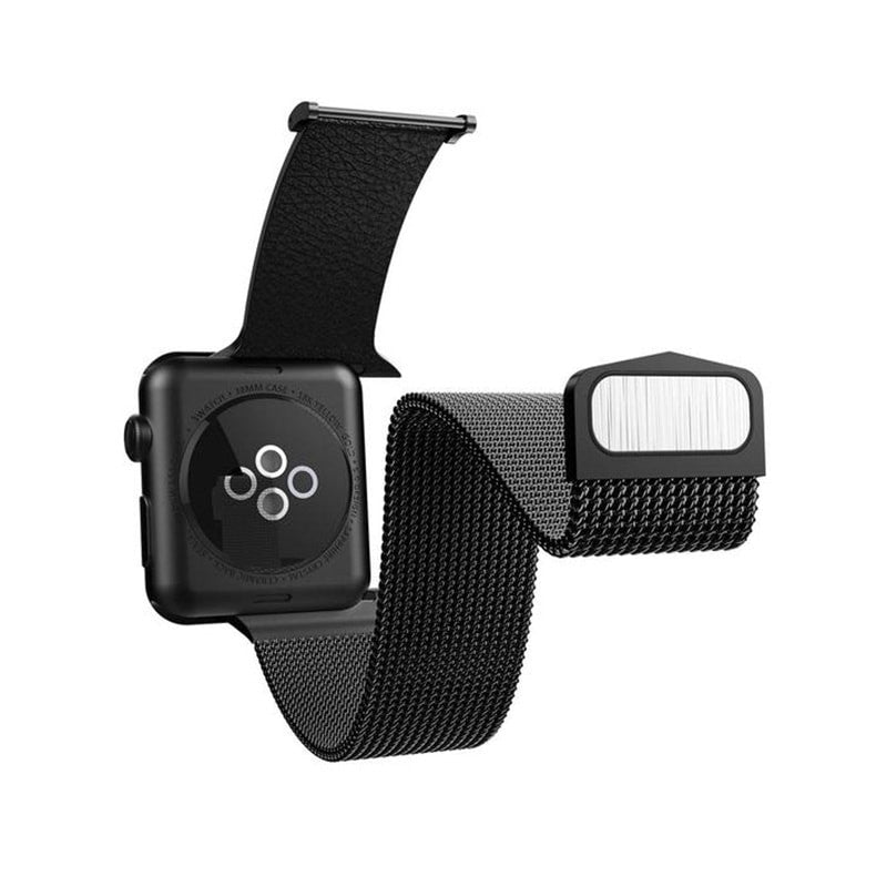 X-Doria 42mm & 44mm Mesh Hybrid Band for Apple Watch  (Black)