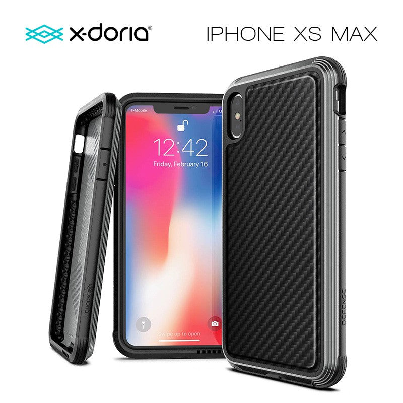 X-Doria Defense Lux for iPhone Xs Max (Black Carbon Fiber)