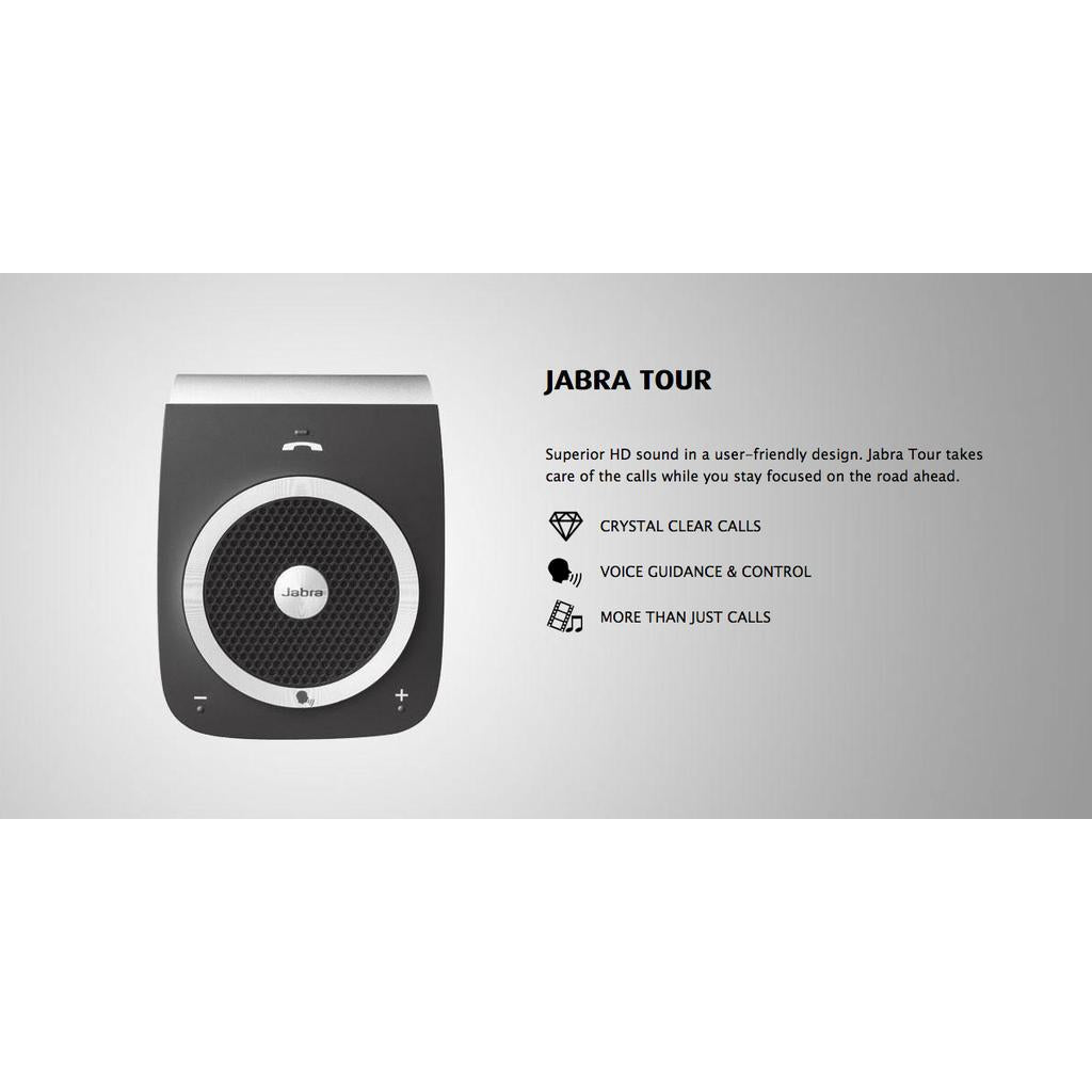 Jabra TOUR Bluetooth In-Car Speakerphone (Black)