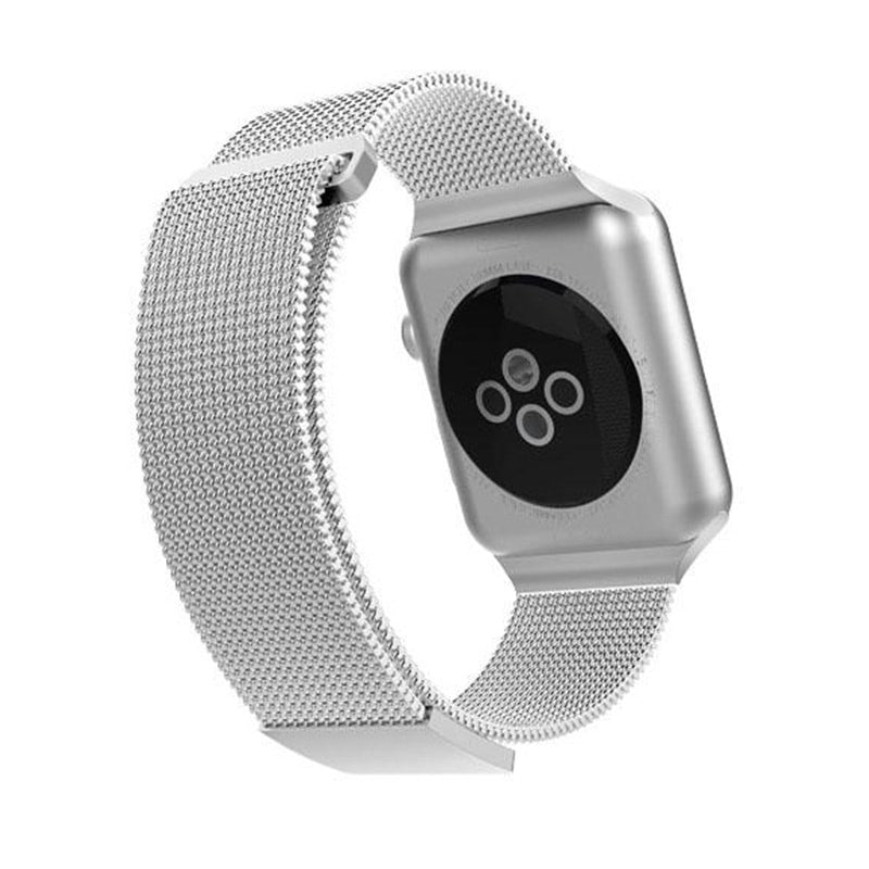 X-Doria 38mm & 40mm Mesh Band for Apple Watch (Full Milanese) (Silver)