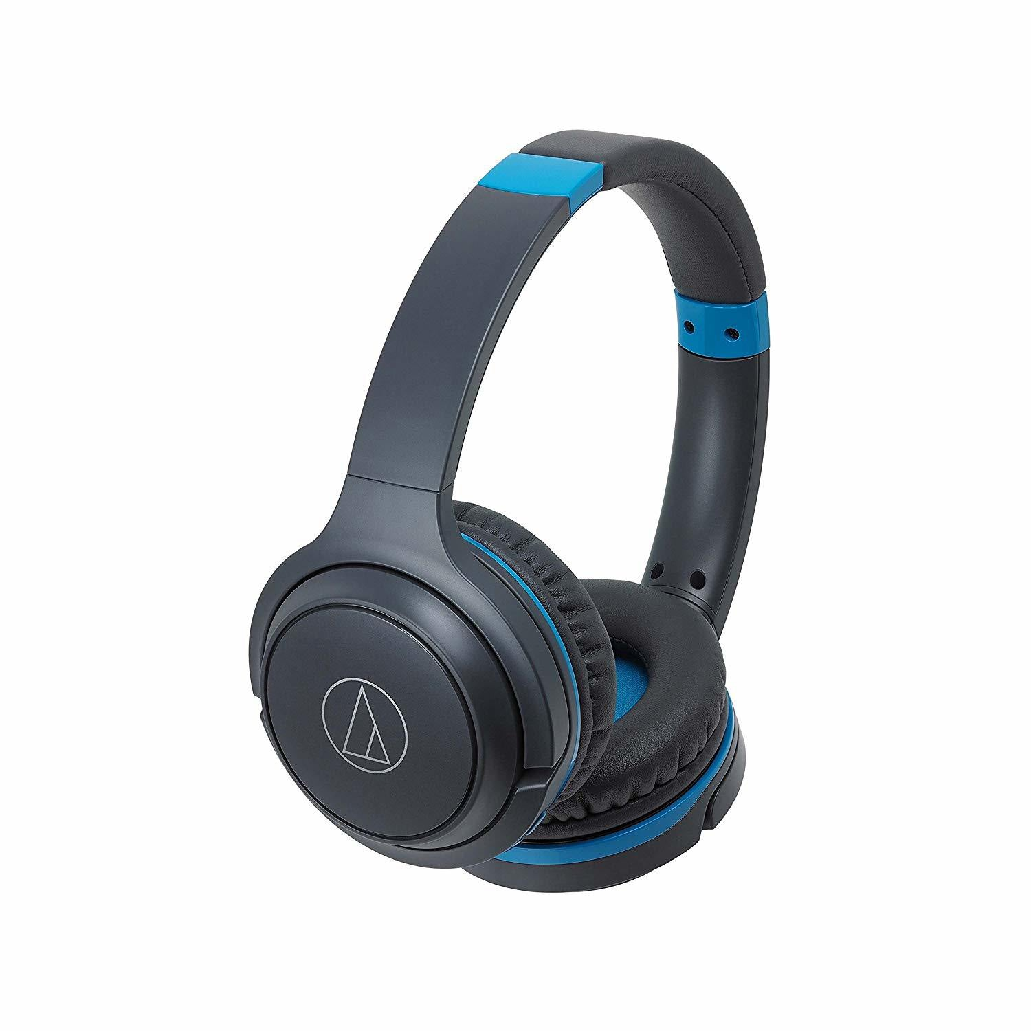 Audio-Technica ATH-S200BT Bluetooth Wireless On-Ear Headphones with Built-In Mic & Controls