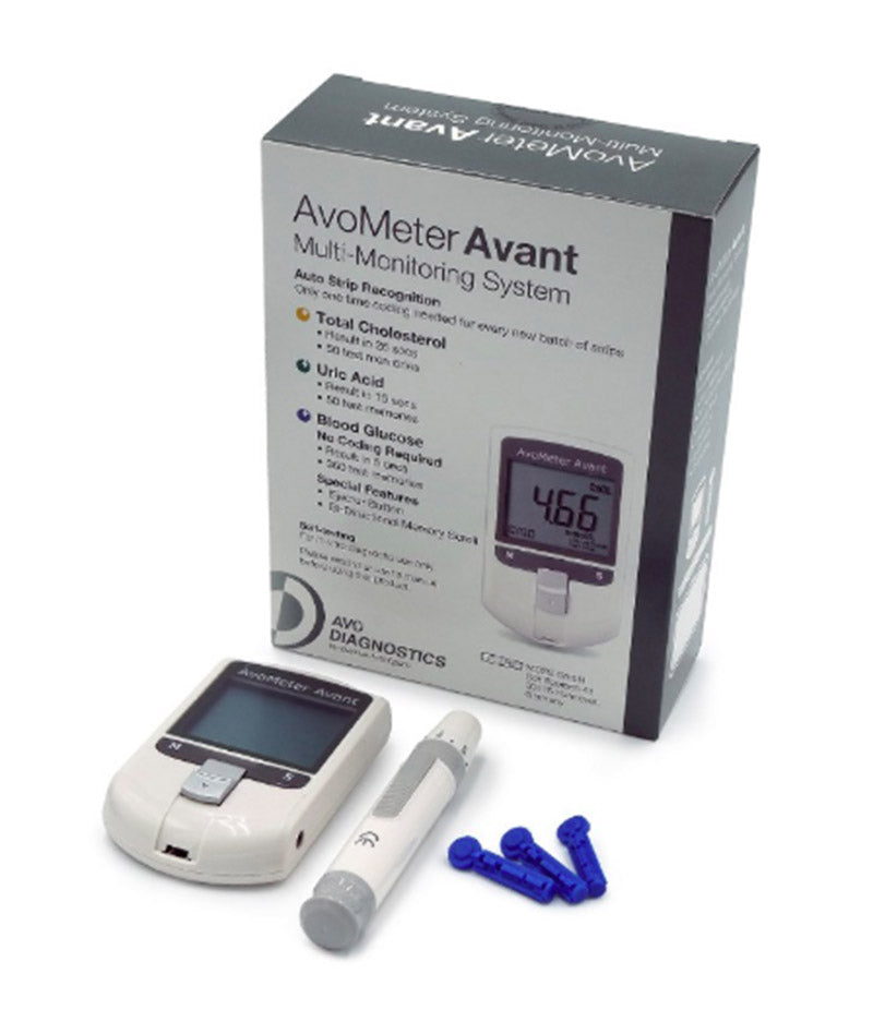 Avometer Avant Multi-Monitoring System For Cholesterol Uric Acid & Blood Glucose