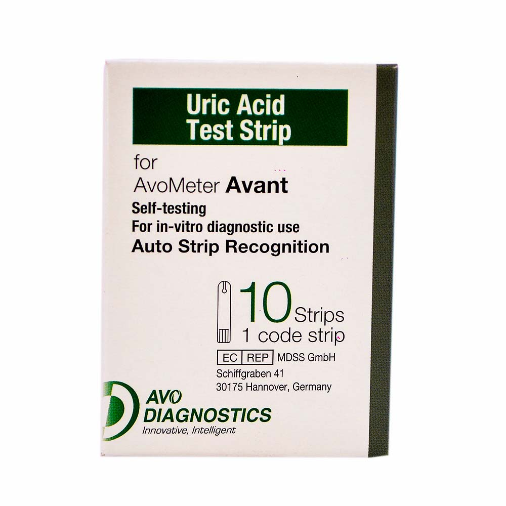 Avometer Uric Acid Test Strips 10 pcs for Avometer Avant