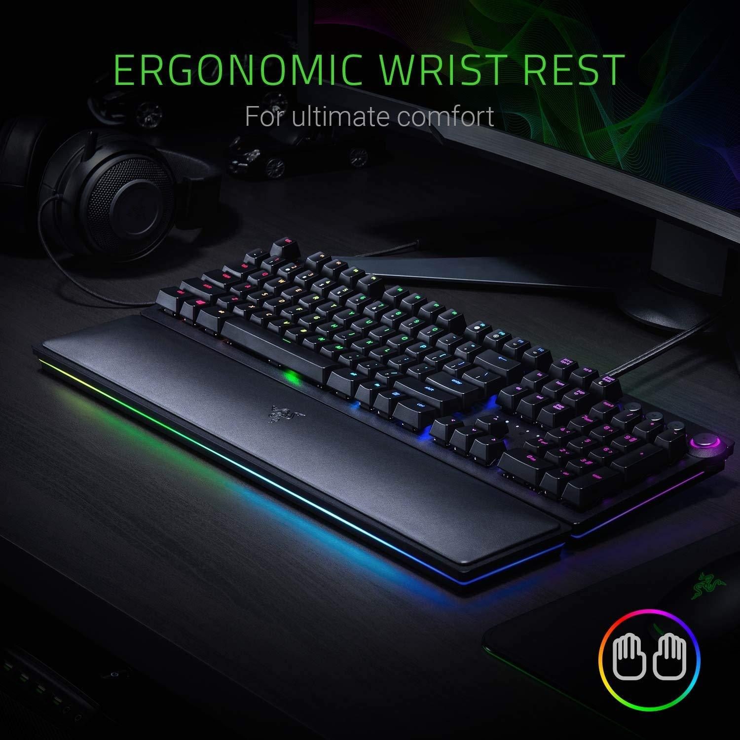 Razer Huntsman Elite: Opto-Mechanical Switch Multi-Functional Dial & Media Keys Gaming Keyboard