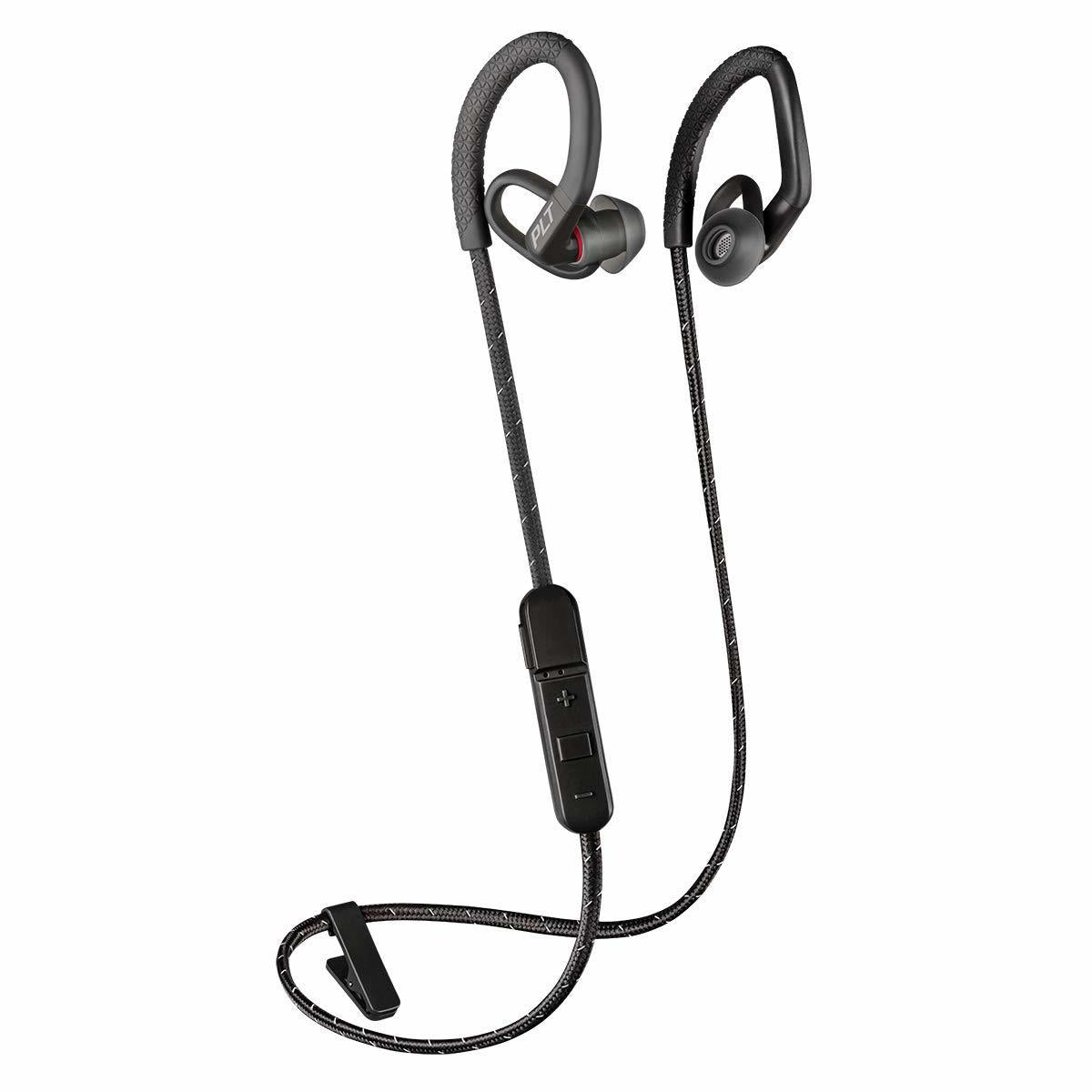 Plantronics BackBeat FIT 350 Wireless Headphones, Stable, Ultra-Light, Sweatproof in Ear Workout Headphones, Black