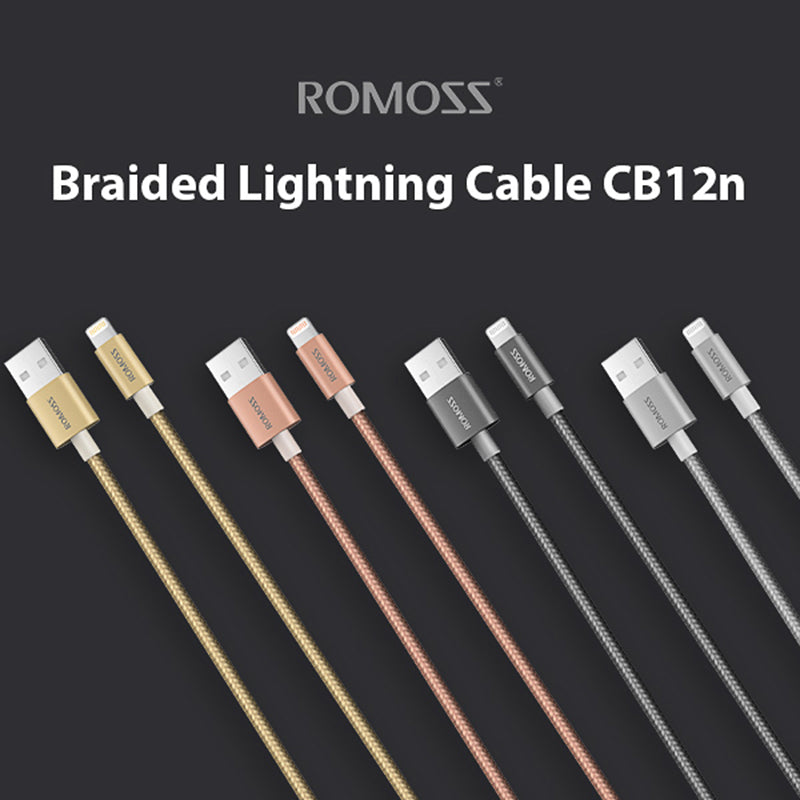Romoss Nylon Braided Lightning Cable