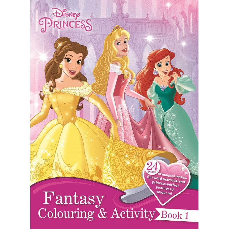 Disney Princess Fantasy Colouring & Activity Book 1