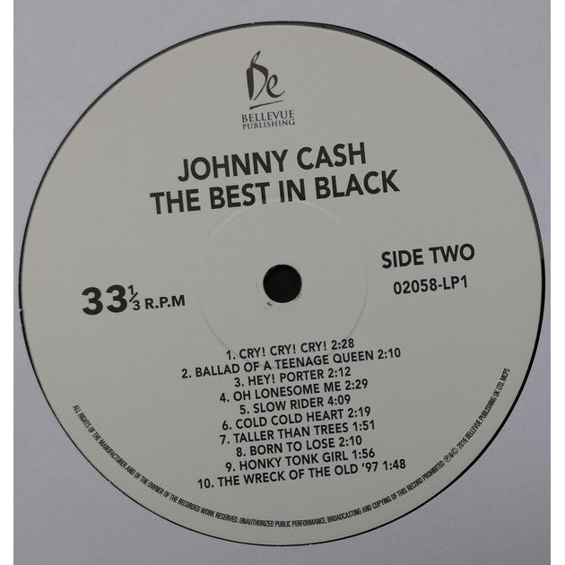 黑胶唱片 Johnny Cash ‎– The Best In Black (Long Play, 2x Vinly)