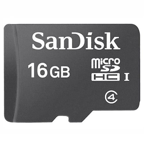 Sandisk 16GB 4Mb/s Class 4 Micro SD SDHC Flash Memory Card