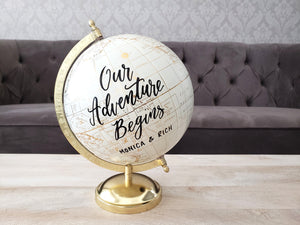 Gold Personalized Globe