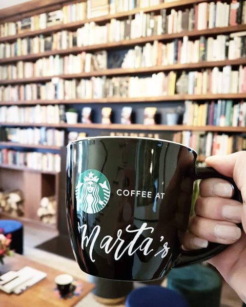 lettering on starbucks mug