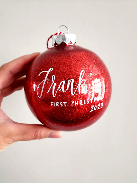 Red Baby's First Christmas Ornament