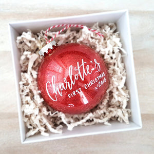 Baby's first christmas personalized ornament gift