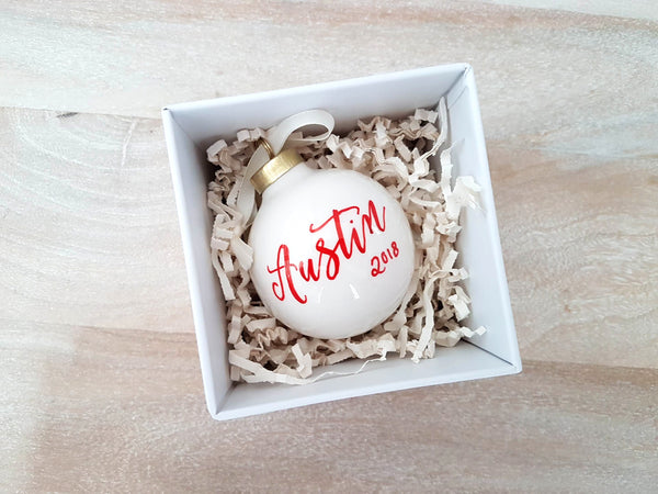 Ceramic Bauble Christmas Ornament
