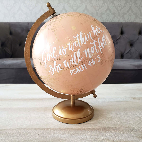 Bible Verse Globe for Girl